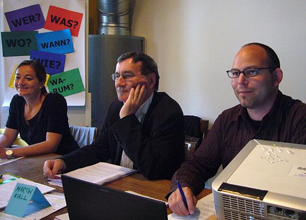 """2009: Blockseminar """"journalistisches und kreatives Schreiben"""" des Instituts für Medienwissenschaft der Uni Bern in Solothurn, mit Lucia Probst und Roger Blum"""