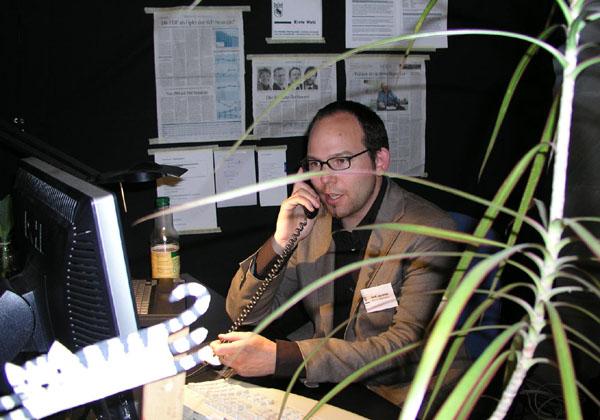 Hektik im Berner Rathaus: Veröffentlichung der Wahlresultate bei den Kantonswahlen 2006