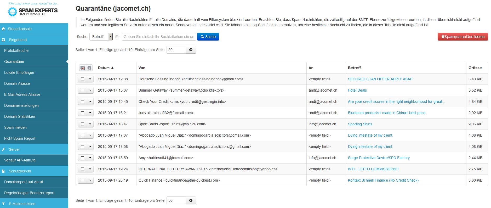 03-spamfilter-03-quarantaene-uebersicht